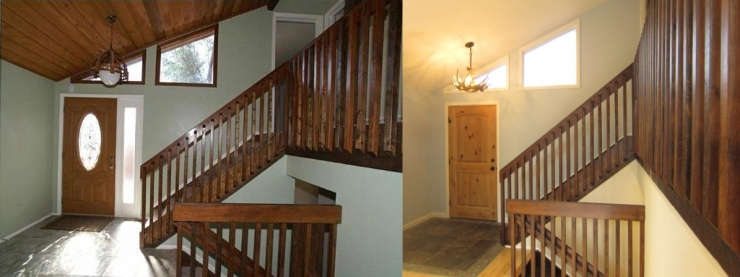 before and after of entry