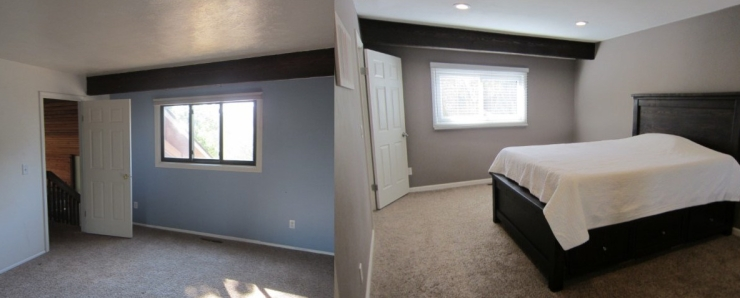 before and after of bedroom